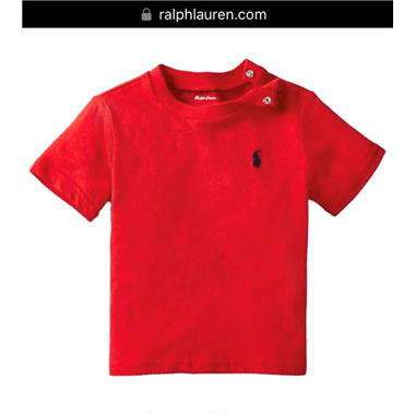 Áo thun Polo size Nhí 018 - Đỏ