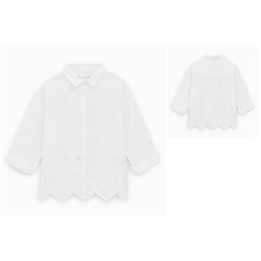 Áo Zara vạt thêu hoa -trăng