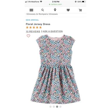 Váy Carter's hoa Khóet lưng