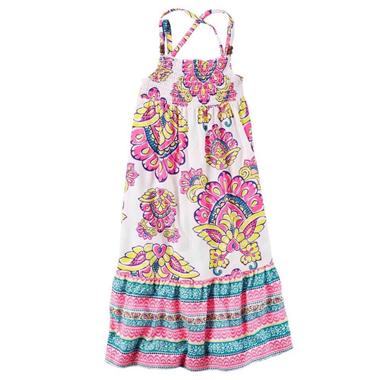 Váy Carter maxim - Hoa văn hồng