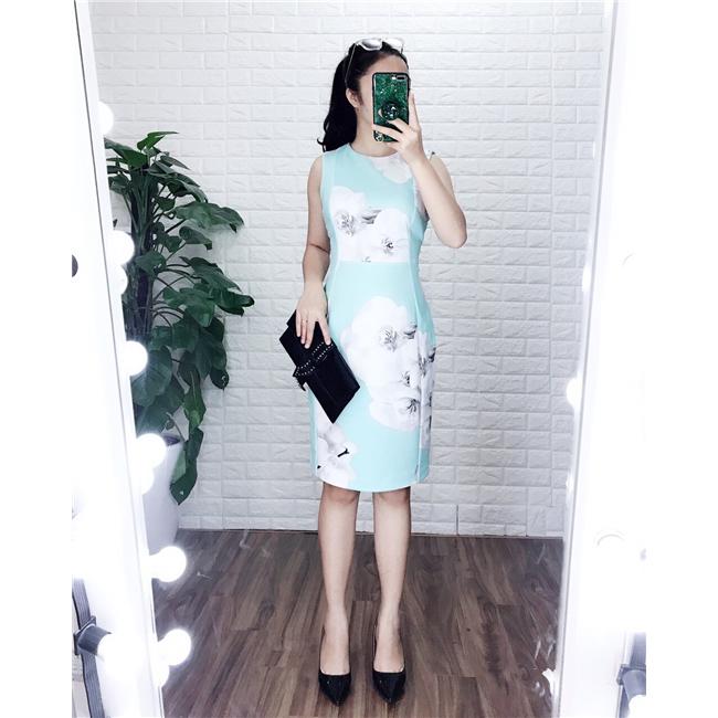 Váy suông CK NL- Xanh