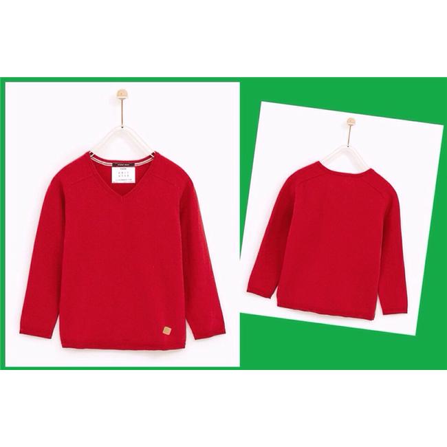 Áo len chui đầu CỔ TIM Zara - Đỏ