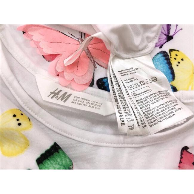 Áo bé gái hm bướm xinh