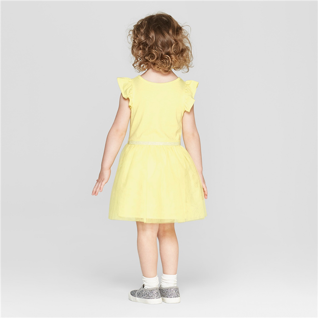Váy thun tay cánh tiên - vàng chanh