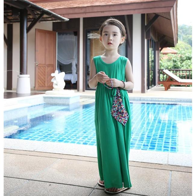 Váy maxim đi biển - Xanh lục