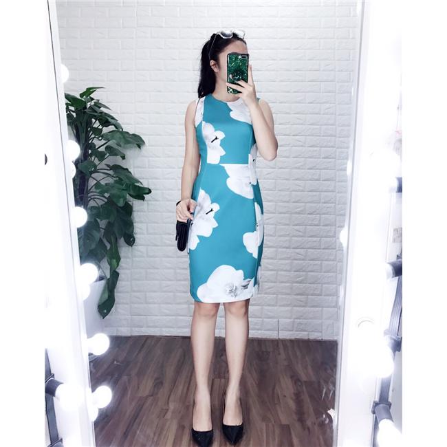 Váy suông CK NL- Xanh ngọc