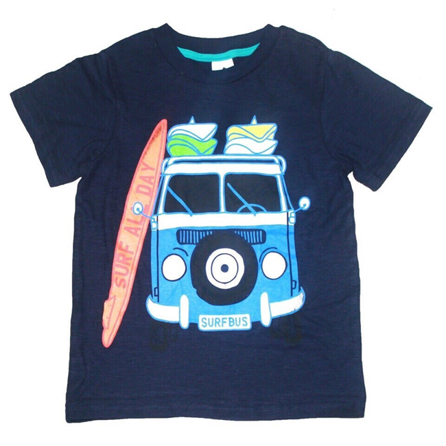 Áo thun Palomino - Xe cứu hỏa xanh đen