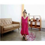 Thời trang trẻ em : Váy maxim đi biển - Hồng Đậm
