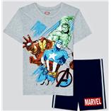 Thời trang trẻ em : Bộ Marvel 19 - Màu Xám