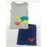 Thời trang trẻ em : Bộ borip bé Trai - Rùa