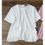 Thời trang trẻ em : Áo zara dang peblum - trắng