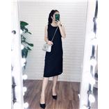 Váy maxi cotton uniqlo - Đen