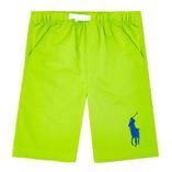 Thời trang trẻ em : Quần short Polo - Xanh la