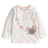 Thời trang trẻ em : Áo thun tay dài H&M - chuột nhỏ