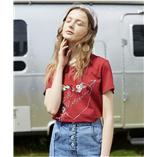 Thời trang trẻ em : Áo Oriana thêu - đỏ