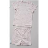 Thời trang trẻ em : Bộ cotton giấy hãng Happy Land xuất Hàn - Chấm bi hồng