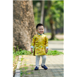 Thời trang trẻ em : Áo dài Xuân 2018 - Xuân vàng
