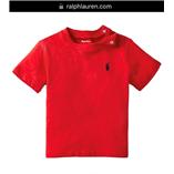 Thời trang trẻ em : Áo thun Polo size Nhí 018 - Đỏ