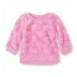 Thời trang trẻ em : Áo lông cừu - Tim hồng