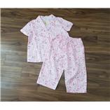 Thời trang trẻ em : Bộ ngủ Victoria - hồng