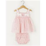 Thời trang trẻ em : Váy  Dulces -Hông châm bi