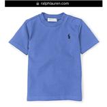 Thời trang trẻ em : Áo thun Polo cổ tròn - 018 Xanh dương