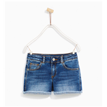 Thời trang trẻ em : Quần shorts jean ZARA GIRLS-Xanh Đậm