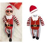 Thời trang trẻ em : body suit ông noel kèm nón