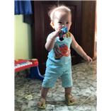 Thời trang trẻ em : Bộ borip 018 - bạch tuột