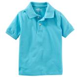 Thời trang trẻ em : Áo thun trơn có cổ - Màu xanh da trời