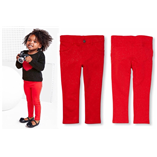 Thời trang trẻ em : Quần  jegging da cá Place - Đỏ kim tuyến
