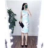 Thời trang trẻ em : Váy suông CK NL- Xanh