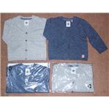 Thời trang trẻ em : Áo len Cardigan cổ tim bé trai - xanh coban