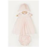 Thời trang trẻ em : Đầm Dulces hồng có mũ