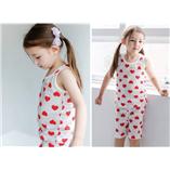 Thời trang trẻ em : Bộ Trái tim đỏ - Xuât Han