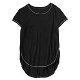 Thời trang trẻ em : Áo gymborre bản vạt cao thấp - Đen