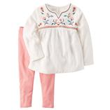 Thời trang trẻ em : Bộ carter's - áo thêu hoa