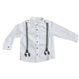 Thời trang trẻ em : Áo sơ mi trắng cách điệu