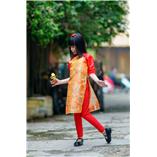 Thời trang trẻ em : Áo dài Xuân 2018 - Gấm Xuân