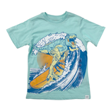 Thời trang trẻ em : Áo thun Gap018 - 22 khủng long lướt ván