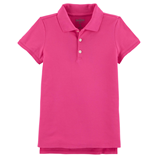 Thời trang trẻ em : Áo thun trơn có cổ - Màu hồng dâu bé gái