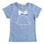 Thời trang trẻ em : Áo phối nơ xanh