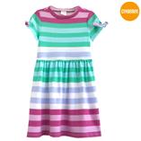 Thời trang trẻ em : Váy thun Gymboree - Sọc xanh côm
