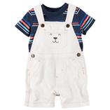 Thời trang trẻ em : Short yếm Carter - Con chó bé trai