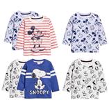 Thời trang trẻ em : Áo thun tay dài H&M - Mickey kẻ đỏ