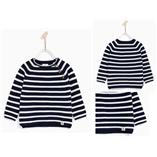 Thời trang trẻ em : Áo len kẻ ZARA bé trai - kẻ xanh Navy