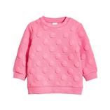 Thời trang trẻ em : Áo nỉ Dập hình bé gái - hồng đậm