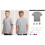 Thời trang trẻ em : Áo thun Polo cổ tròn - 018 Ghi Xám