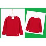 Thời trang trẻ em : Áo len chui đầu CỔ TIM Zara - Đỏ