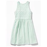 Thời trang trẻ em : Váy bé gái Oldnavy - Ren Xanh